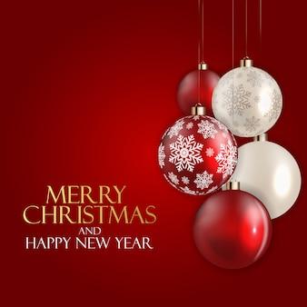 Neujahr und frohe weihnachten hintergrund