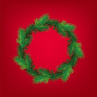 Neujahr und weihnachten kranz mesh
