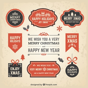 Neujahr und weihnachten wohnung banners