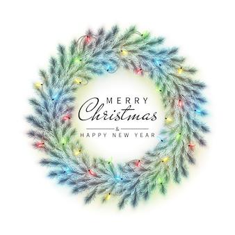 Neujahr und weihnachtskranz