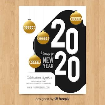 Neujahrs flyer vorlage