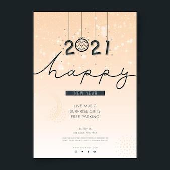 Neujahrs-flyer-vorlage