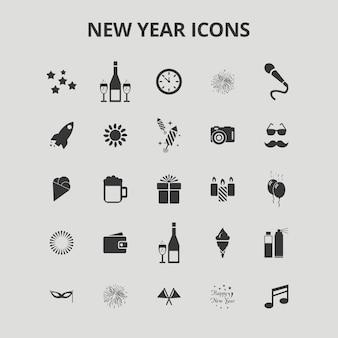 Neujahrs-icons
