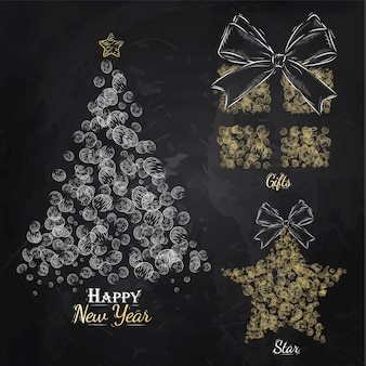 Neujahrs kollektion gold