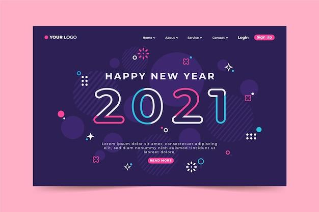 Neujahrs-landingpage-vorlage