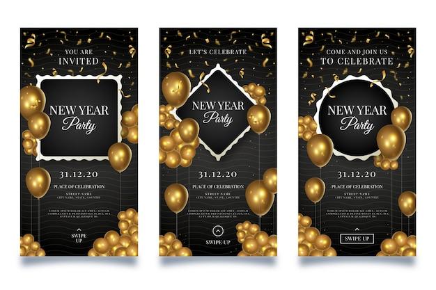 Neujahrs-social-media-geschichten