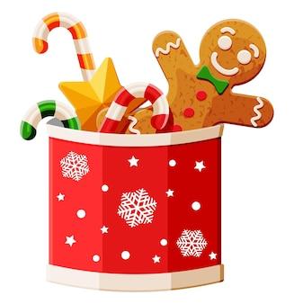 Neujahrs-traditions-desserts im cup mit schneeflocke.
