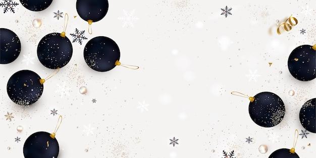 Neujahrs- und weihnachtsbanner von dezember