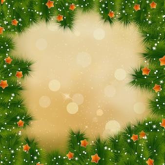 Neujahrs- und weihnachtskarte.
