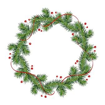 Neujahrs- und weihnachtskranz