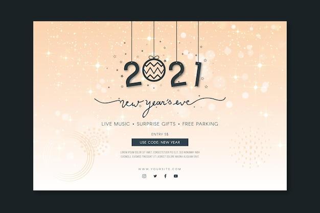 Neujahrsbanner-vorlage