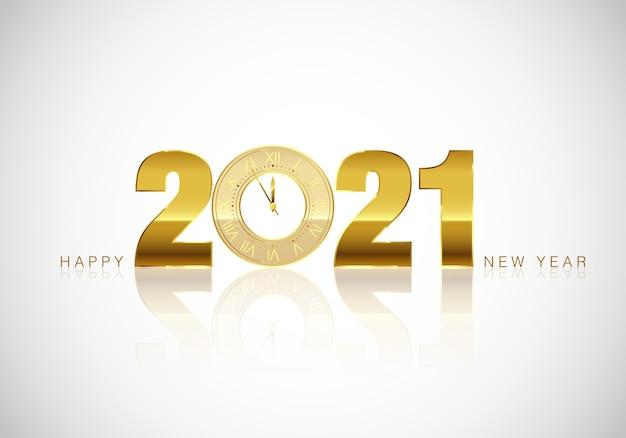 Neujahrsgruß. goldene uhr. feiertagsdekoration, feiertags-mitternachts-countdown