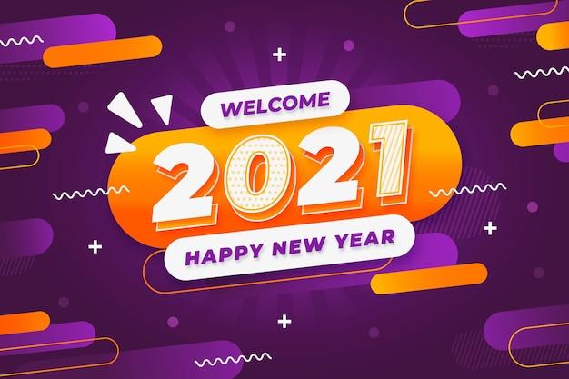 Neujahrshintergrund im memphis-stil