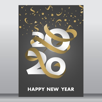 Neujahrskarte oder poster