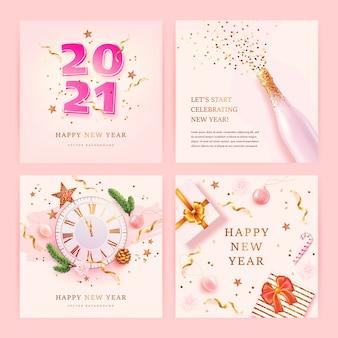 Neujahrskarten gesetzt