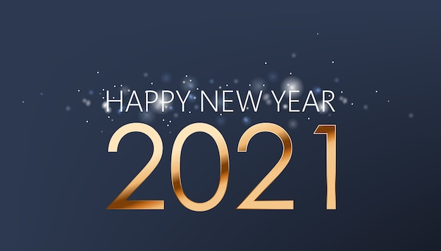 Neujahrskomposition aus goldenen zahlen und silber funkelt
