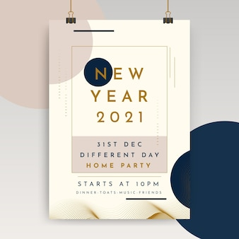 Neujahrsplakatvorlage