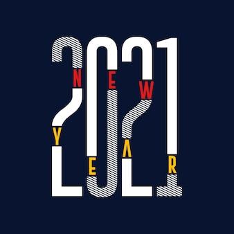 Neujahrstypografie