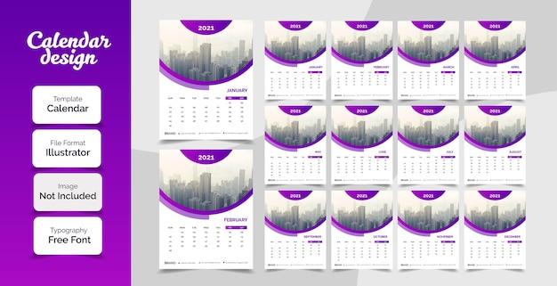Neujahrswandkalenderentwurf