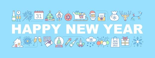 Neujahrswortkonzept-banner