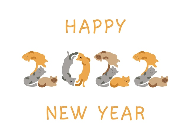 Neujahrszahlen der katzen