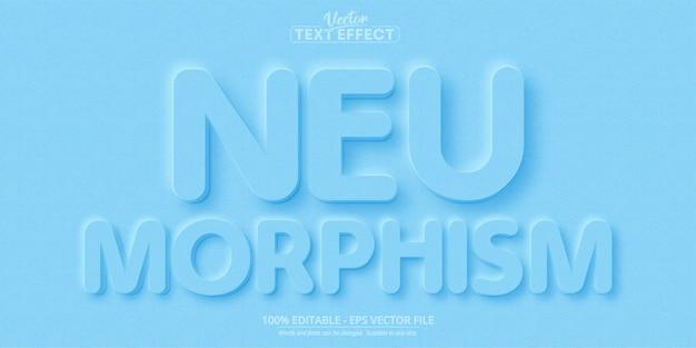 Neumorphism-text, bearbeitbarer texteffekt im neuen designtrendstil
