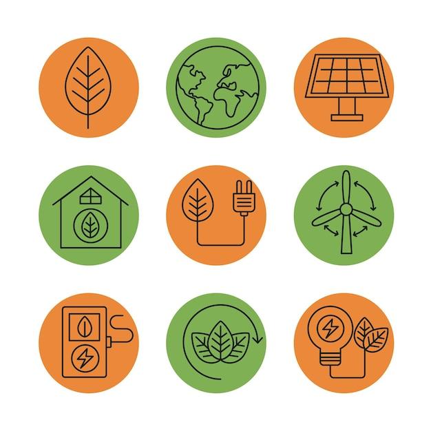 Neun bioenergieelemente