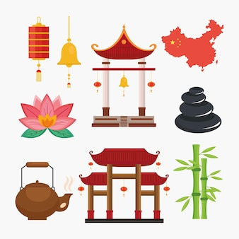 Neun chinesische kulturikonenchina