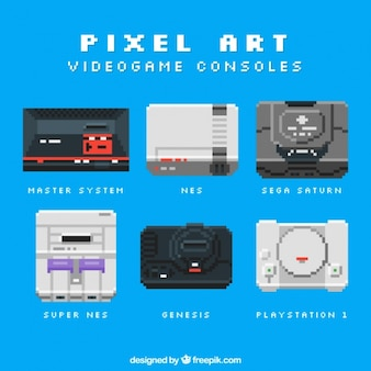 Neun pixel stil konsolen