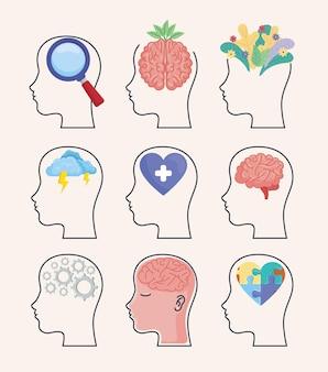 Neun profile zur psychischen gesundheit