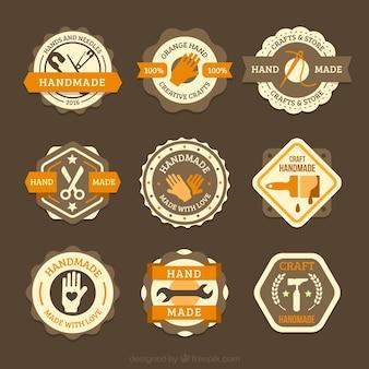 Neun schöne logos für zimmerei