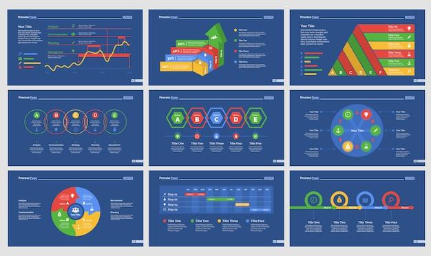 Neun strategie slide vorlagen set