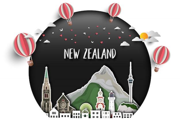 Neuseeland-hintergrund