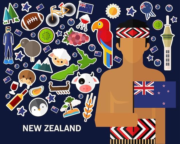 Neuseeland-konzept hintergrund