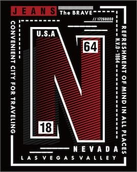 Nevada kunst, vektortypographie illustration design grafik