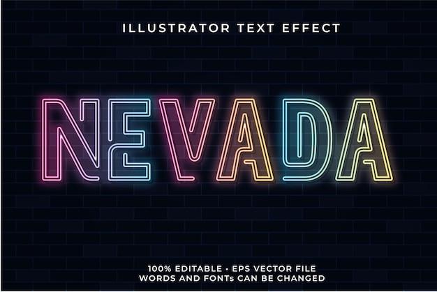 Nevada neon text effekt
