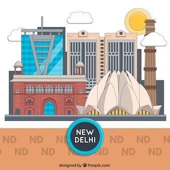 New delhi gebäuden