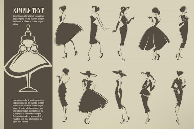 New look girls kollektion von mädchen im retro-stil