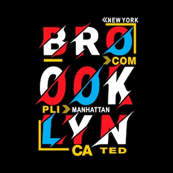 New york brooklyn typografie t-shirt vektor