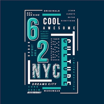 New york city cool genial typografie grafik vektor