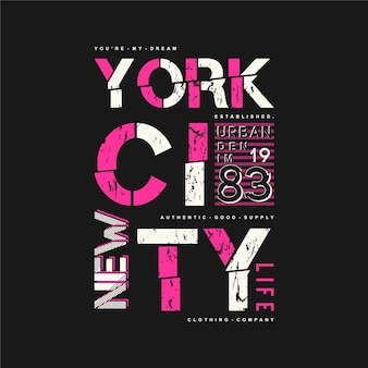 New york city leben typografie grafik t-shirt vektor-design