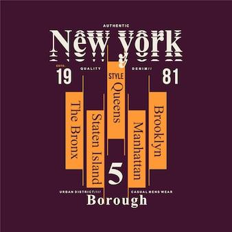 New york city schriftzug cool gut für t-shirt design typografie illustration