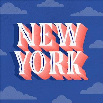New york city schriftzug
