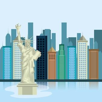 New york city stadtbild vektor-illustration-design