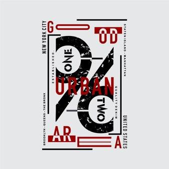 New york city städtische grafik typografie design