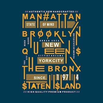 New york city städtisches design für junge mode
