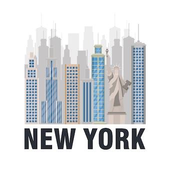 New york city statue der freiheitsszene