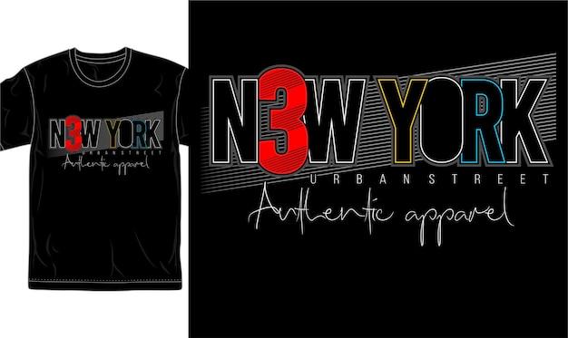 New york city t-shirt design grafik vektor