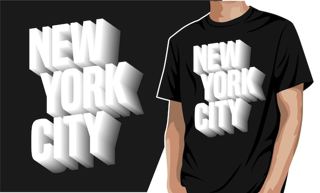 New york city - t-shirt für druck