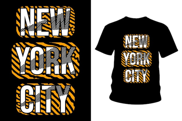 New york city text t-shirt typografie design